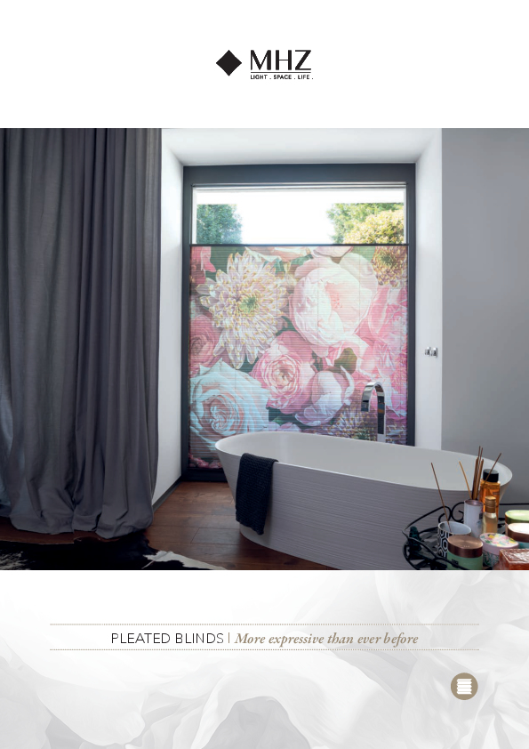 Brochure pleated blinds