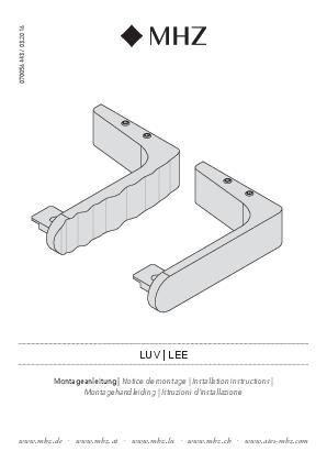 Installation instructions Lee/Luv bracket