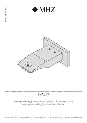 Installation instructions Skalar bracket