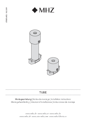 Installation instructions Tube bracket