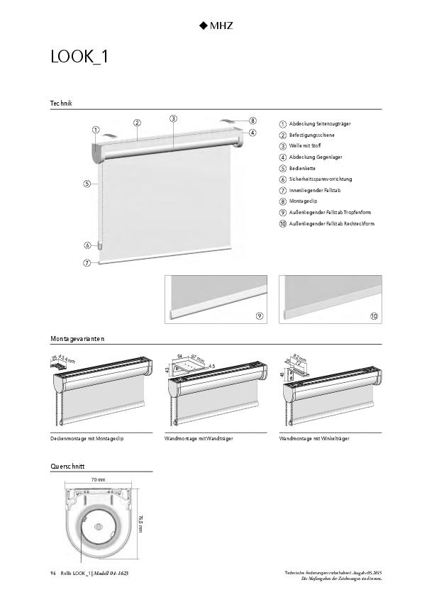 Technische Informationen Rollo LOOK_1