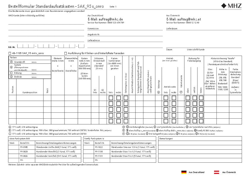 Bestellformular Aufsatzkasten SAK_95 s_onro