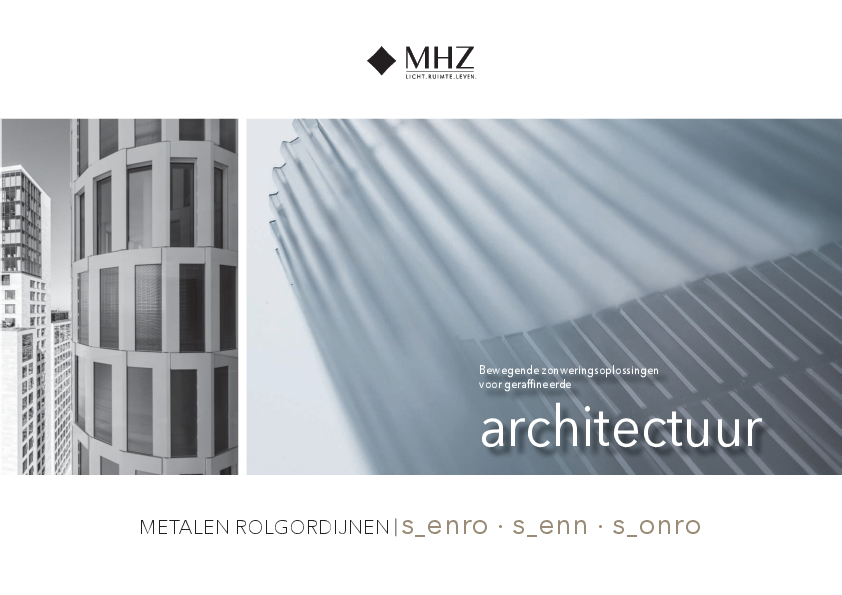 Brochure metalen rolgordijnen s_enro s_enn s_onro