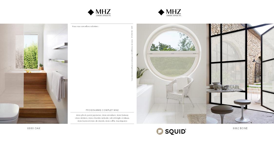 Flyer textile adhésif SQUID