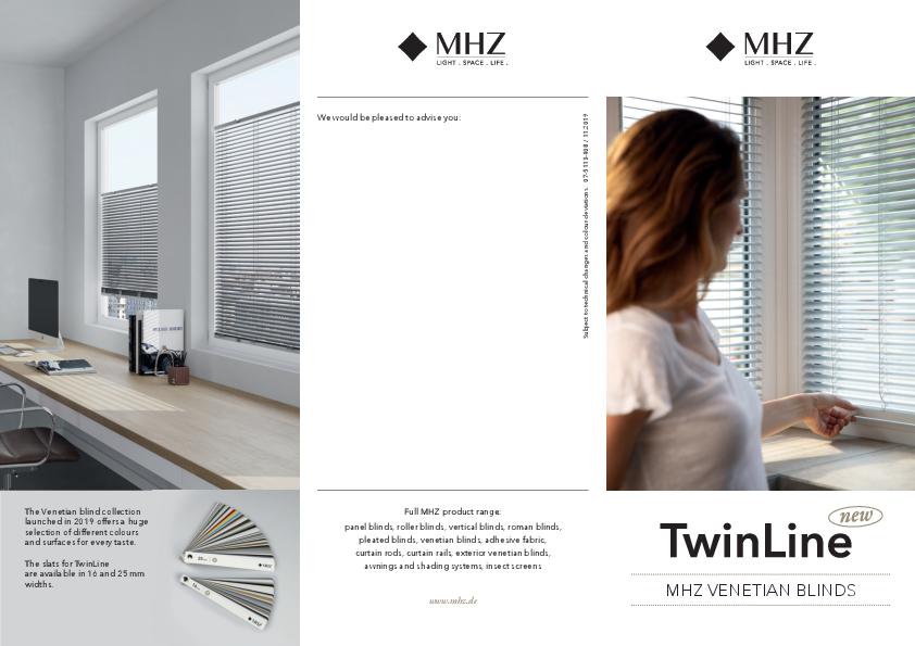 Flyer Venetian blinds TwinLine New