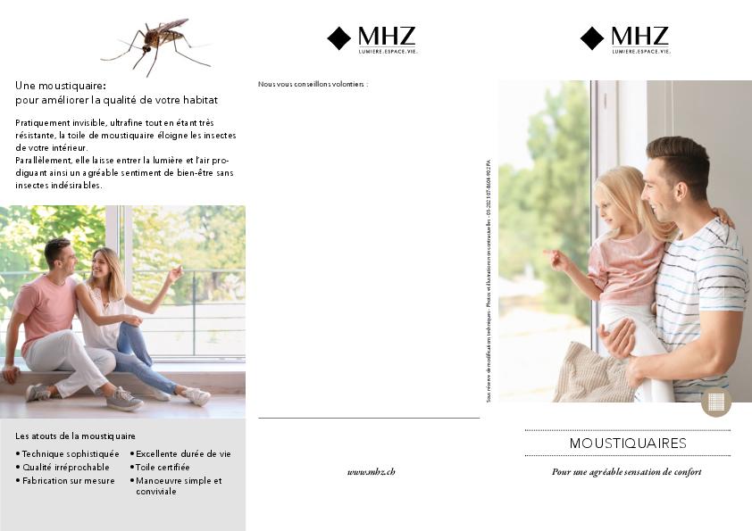 Flyer moustiquaires
