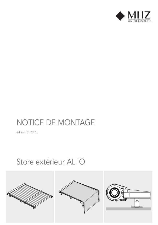 Notice de montage store extérieur ALTO