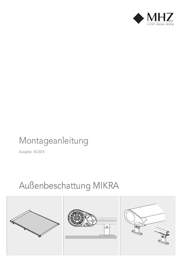 Montageanleitung Außenbeschattung MIKRA