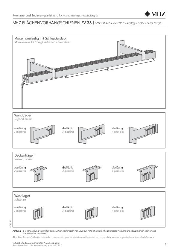 Montageanleitung Flächenvorhang FV 36