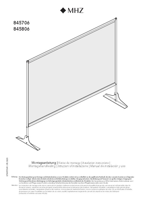 Montagehandleiding preventieproducten staand preventiescherm H3