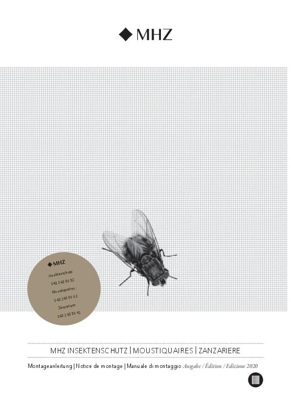 Notice de montage moustiquaires (Suisse)