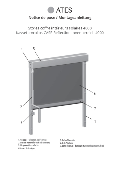Montageanleitung Kassettenrollo Reflection