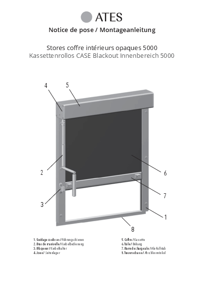 Montageanleitung Kassettenrollo Blackout