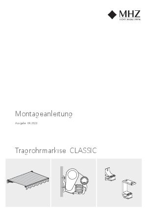 Montageanleitung Tragrohrmarkise CLASSIC