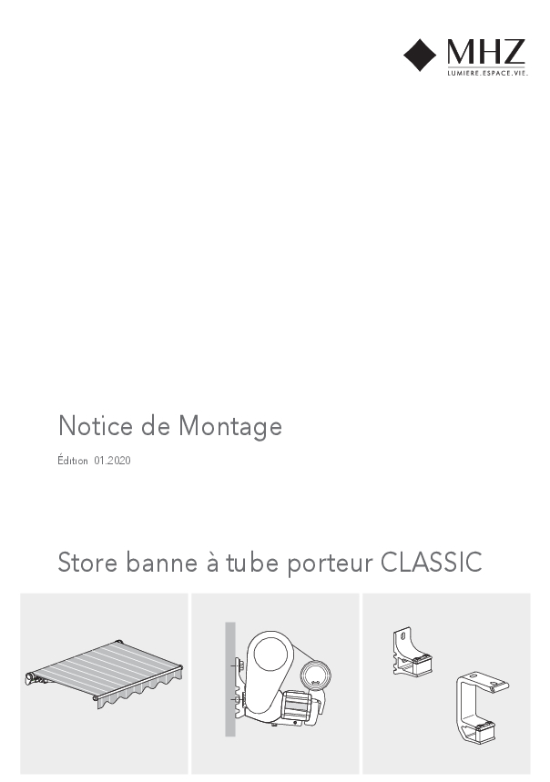 Notice de montage store banne CLASSIC