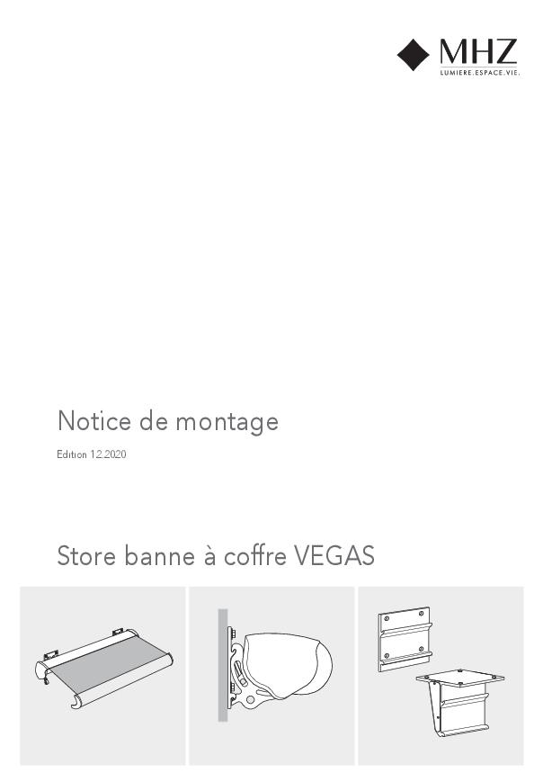 Notice de montage store banne à coffre VEGAS
