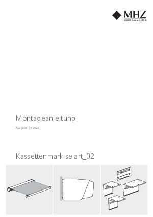 Montageanleitung Kassettenmarkise art_02