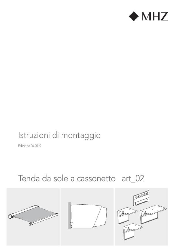 Istruzioni di montaggio Tenda da sole a cassonetto art_02