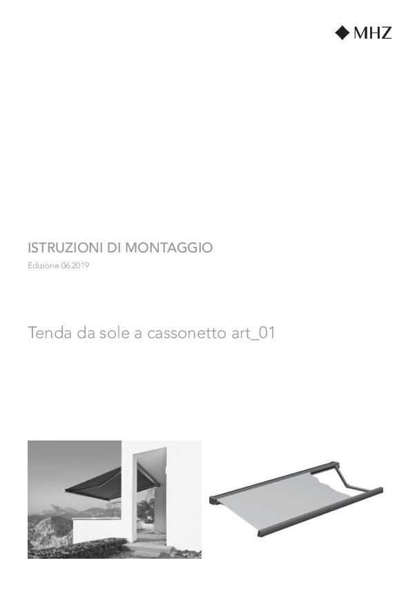 Istruzioni di montaggio Tenda da sole a cassonetto art_01