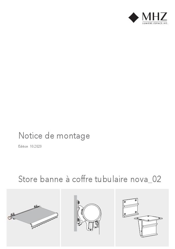 Notice de montage store banne à coffre tubulaire nova_02