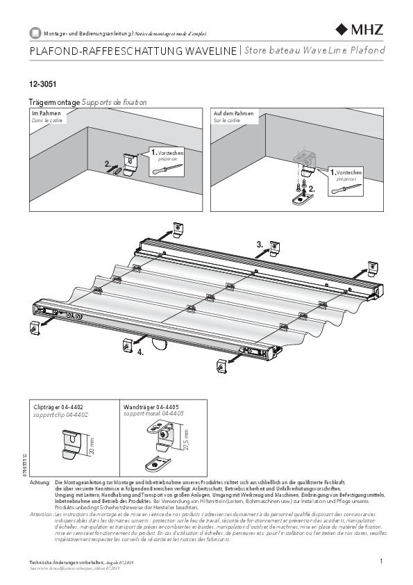 Montageanleitung Raffbeschattung WaveLine 12-3051