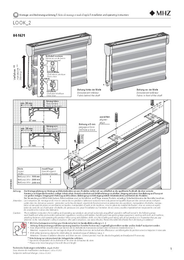 Montage- und Bedienungsanleitung Rollo LOOK_2