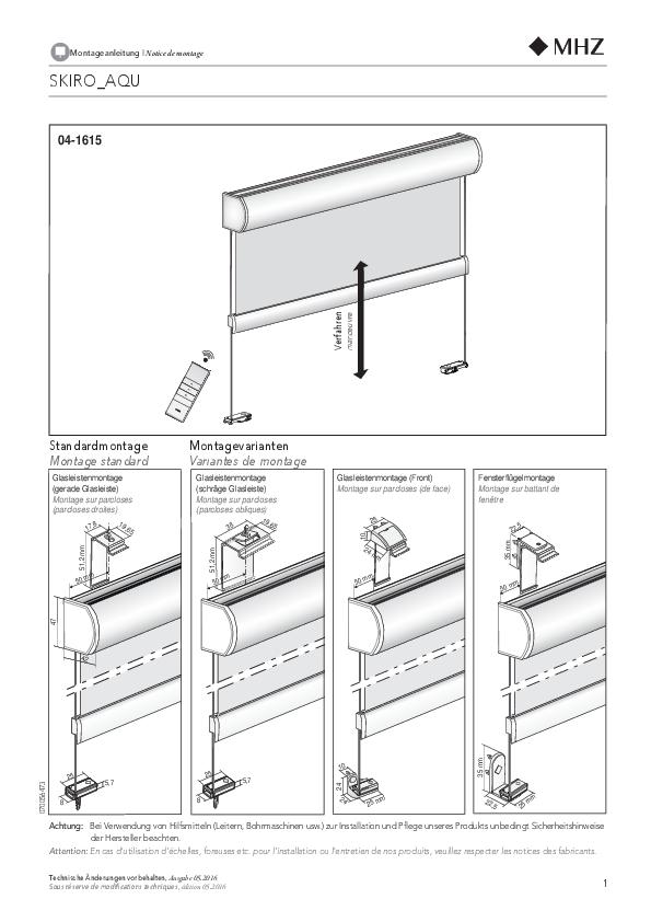 Notice de montage store enrouleur SKIRO_AQU