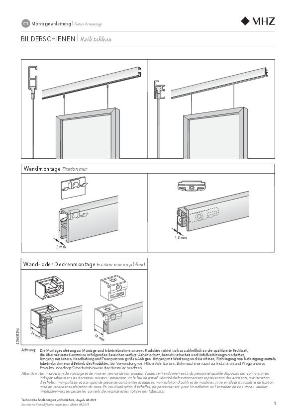 Notice de montage rails tableau