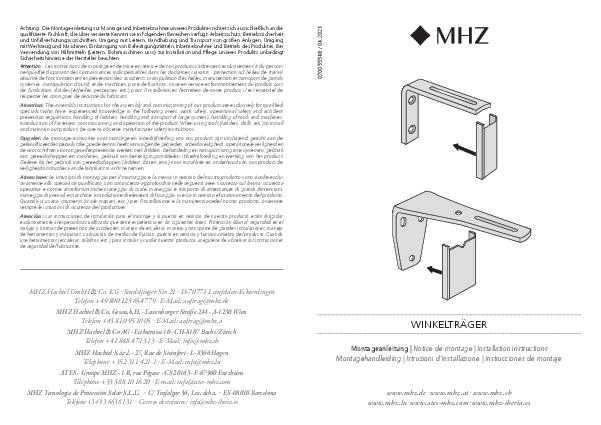 Montageanleitung Vorhangschienen FUTUR Winkelträger