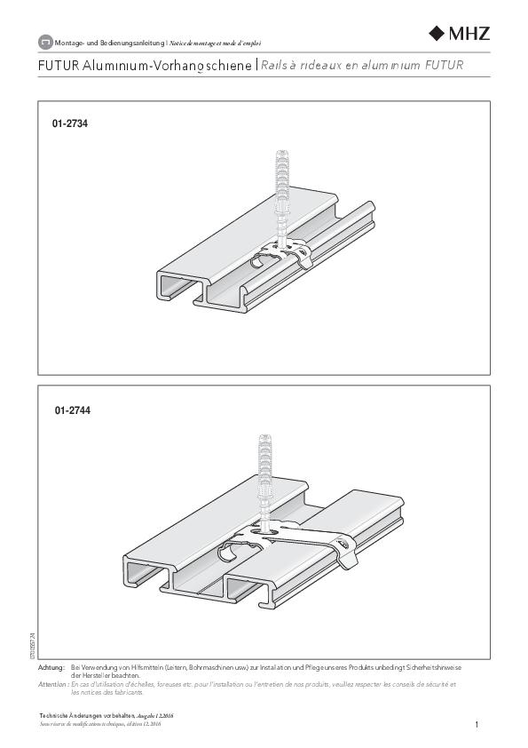 Montageanleitung Vorhangschienen FUTUR