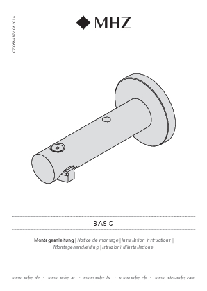 Installation instructions Basic bracket