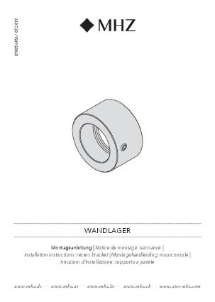 Installation instructions Basic recess bracket