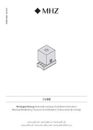 Installation instructions Cube bracket