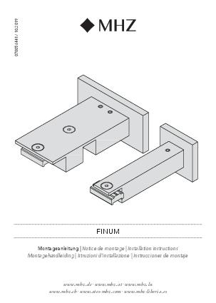 Istruzioni d'installazione Finum supporto