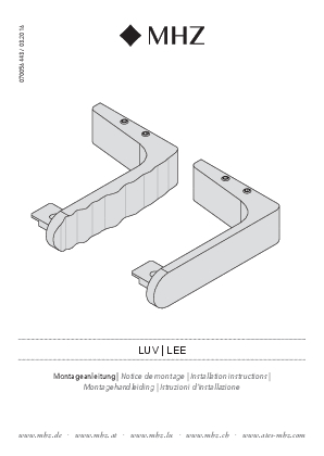 Installation instructions Lee/Luv bracket