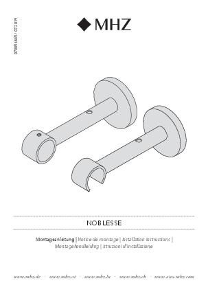 Installation instructions Noblesse bracket