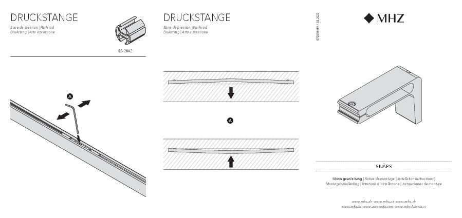 Installation instructions Snäps bracket