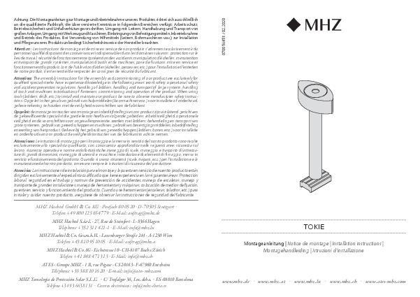 Installation instructions Tokie bracket