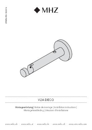 Montagehandleiding V2A steun