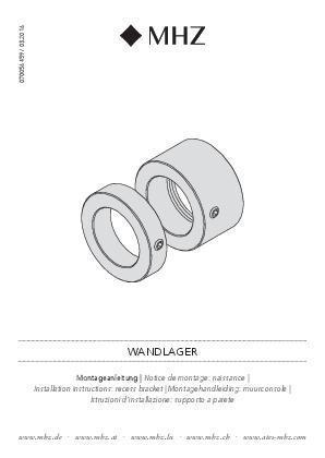 Montagehandleiding gordijnroeden V2A muurconsole