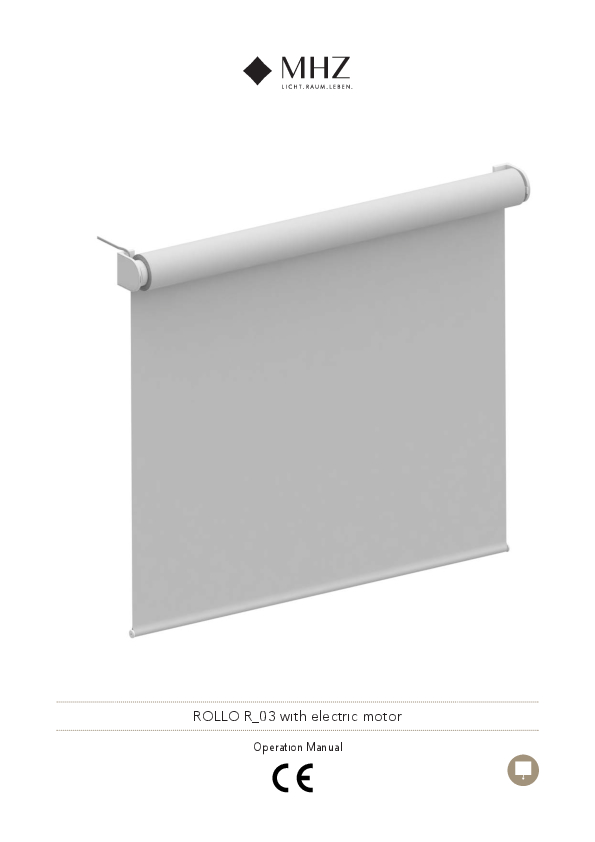 Operation manual roller blind R_03 with electric motor