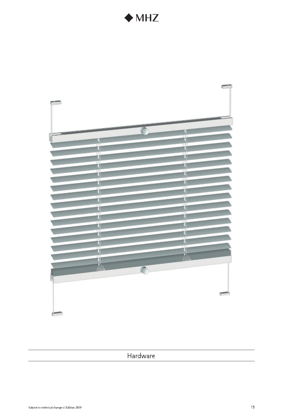 Technical information Venetian blinds TwinLine 09-8080, 09-8180