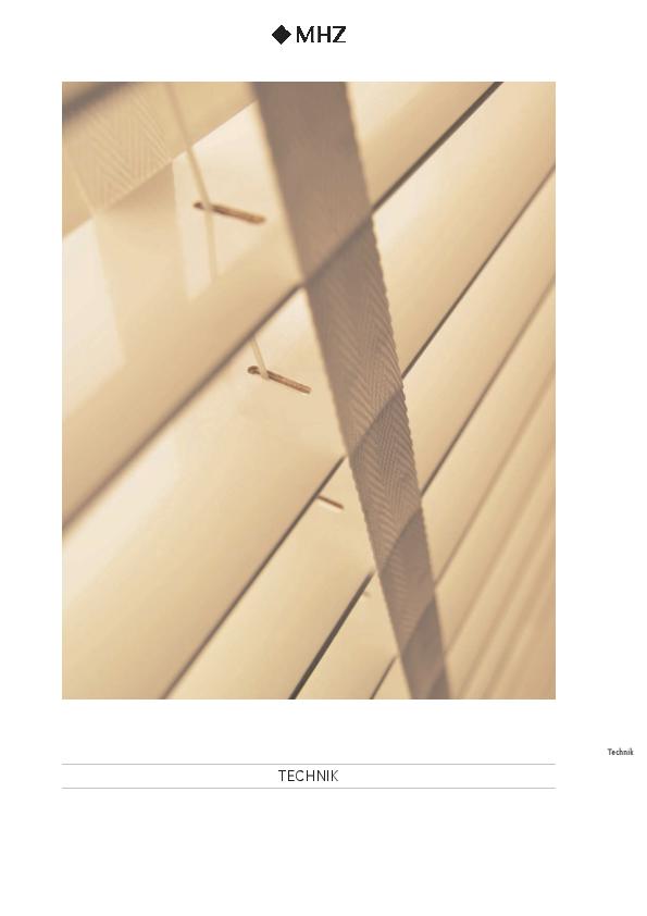 Technische Informationen Horizontal-Jalousien aus Holz