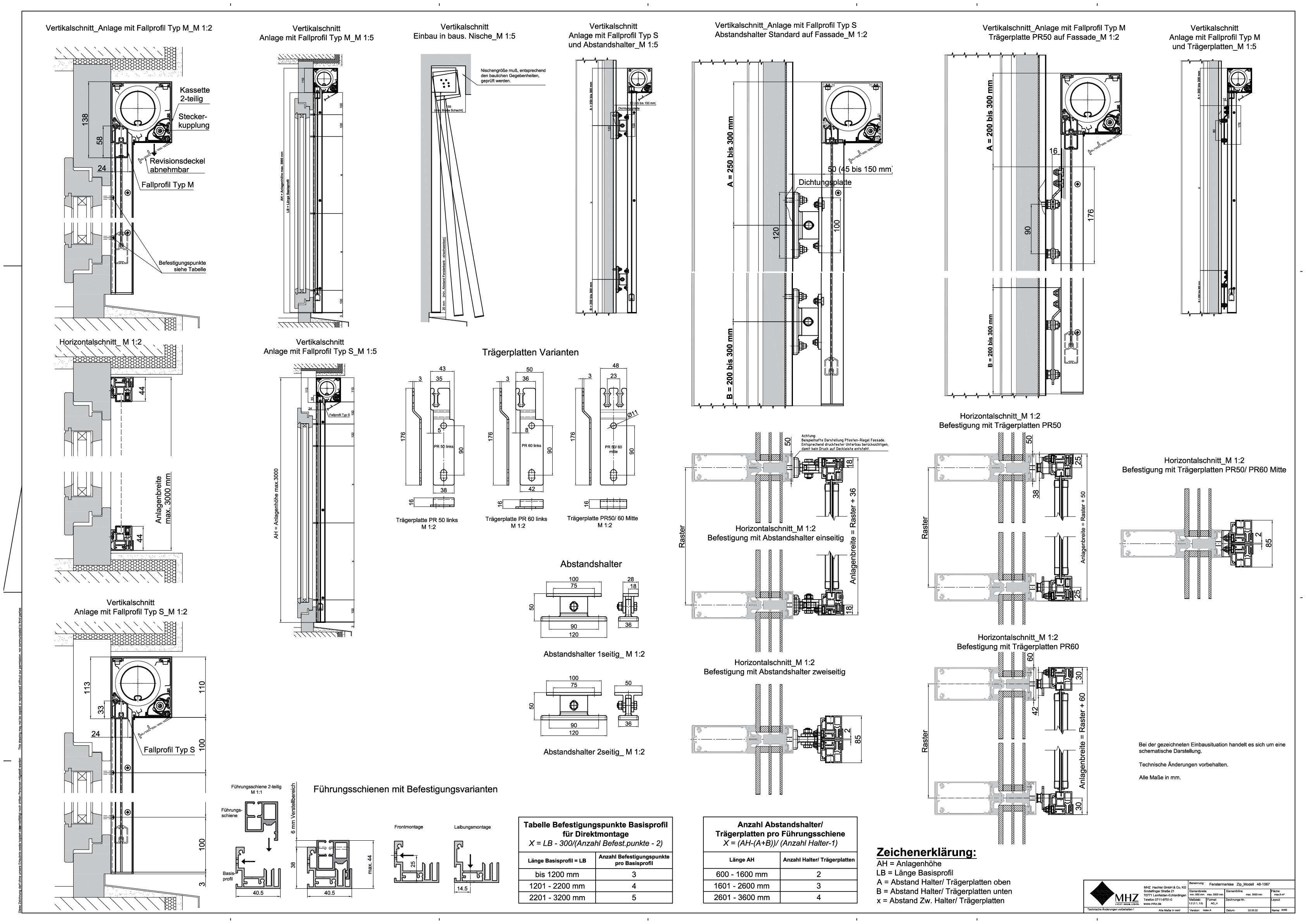 Technische Zeichnung dwg Fenstermarkisen zip_2.0 48-1067