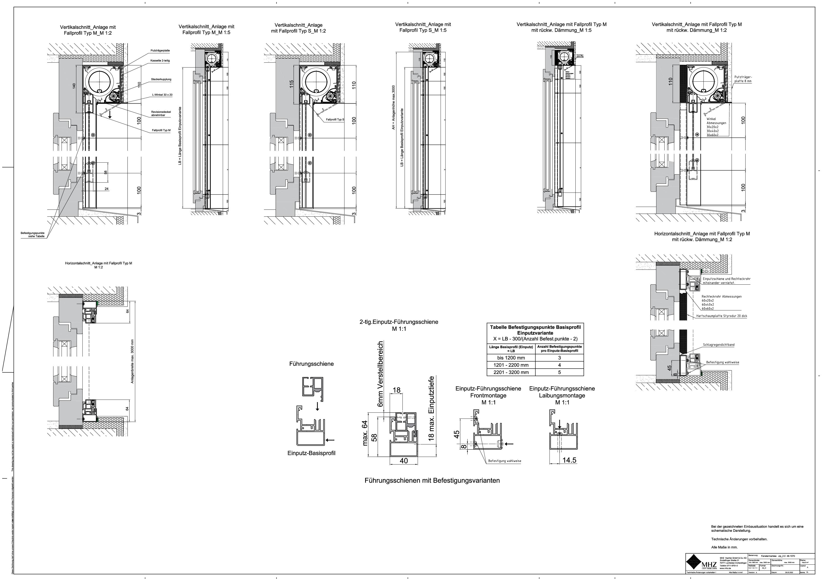 Technische Zeichnung dwg Fenstermarkisen zip_2.0 48-1070