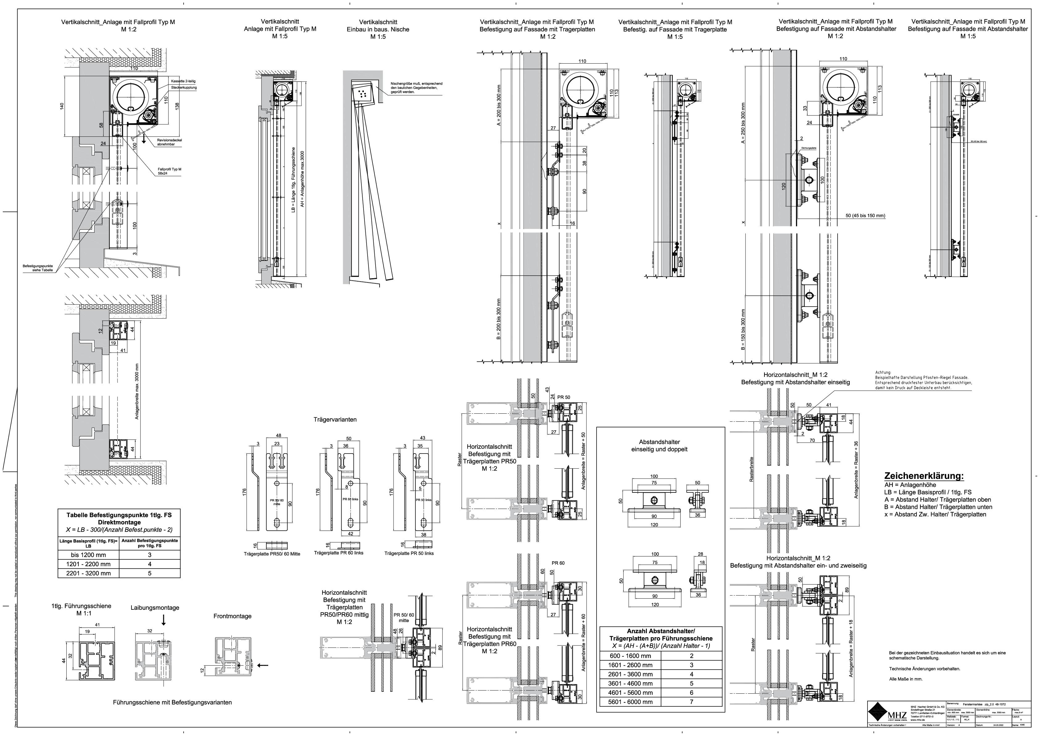 Technische Zeichnung dwg Fenstermarkisen zip_2.0 48-1072