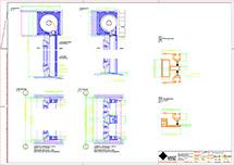 Technische Zeichnung dwg Metallbehang s_onro Aufsatz SGM