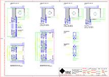 Technische Zeichnung dwg Metallbehang s_onro Vorbau SE20