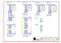 Technische Zeichnung dwg Metallbehang s_onro Vorbau SE90