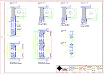 Technische Zeichnung Metallbehang s_onro Vorbau SR (dwg)